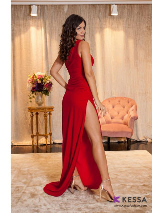 MISTERIOUS RED DRESS